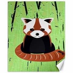 Red Panda Bamboo Firefox Animal Canvas 11  X 14