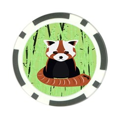 Red Panda Bamboo Firefox Animal Poker Chip Card Guard