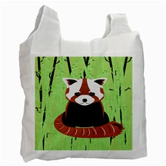 Red Panda Bamboo Firefox Animal Recycle Bag (two Side)
