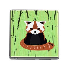 Red Panda Bamboo Firefox Animal Memory Card Reader (square)