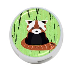 Red Panda Bamboo Firefox Animal 4 Port Usb Hub (two Sides)