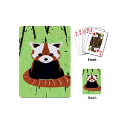 Red Panda Bamboo Firefox Animal Playing Cards (mini)
