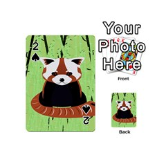 Red Panda Bamboo Firefox Animal Playing Cards 54 (mini)