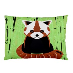 Red Panda Bamboo Firefox Animal Pillow Case (two Sides)