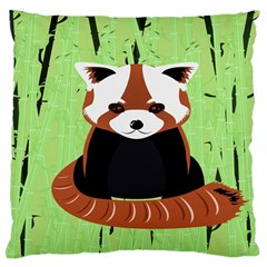 Red Panda Bamboo Firefox Animal Large Cushion Case (one Side)