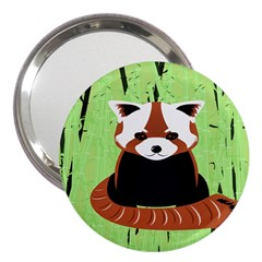 Red Panda Bamboo Firefox Animal 3  Handbag Mirrors