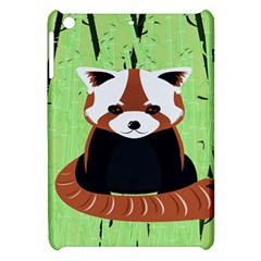 Red Panda Bamboo Firefox Animal Apple Ipad Mini Hardshell Case by Nexatart