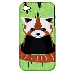 Red Panda Bamboo Firefox Animal Apple Iphone 4/4s Hardshell Case (pc+silicone)
