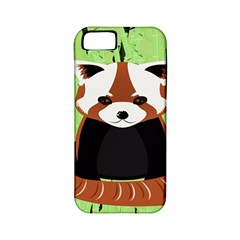 Red Panda Bamboo Firefox Animal Apple Iphone 5 Classic Hardshell Case (pc+silicone)