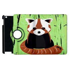 Red Panda Bamboo Firefox Animal Apple Ipad 2 Flip 360 Case