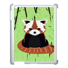 Red Panda Bamboo Firefox Animal Apple Ipad 3/4 Case (white)