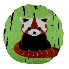 Red Panda Bamboo Firefox Animal Large 18  Premium Round Cushions by Nexatart