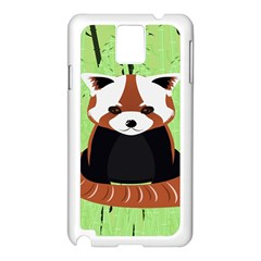 Red Panda Bamboo Firefox Animal Samsung Galaxy Note 3 N9005 Case (white)