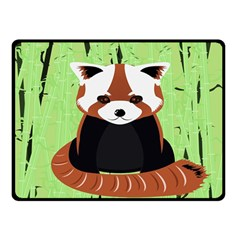 Red Panda Bamboo Firefox Animal Double Sided Fleece Blanket (small)