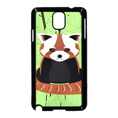 Red Panda Bamboo Firefox Animal Samsung Galaxy Note 3 Neo Hardshell Case (black)