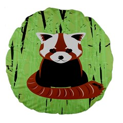 Red Panda Bamboo Firefox Animal Large 18  Premium Flano Round Cushions