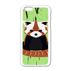 Red Panda Bamboo Firefox Animal Apple Iphone 6/6s White Enamel Case
