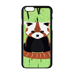Red Panda Bamboo Firefox Animal Apple Iphone 6/6s Black Enamel Case