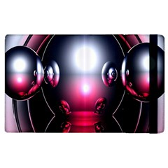 Red 3d  Computer Work Apple Ipad 3/4 Flip Case by Nexatart