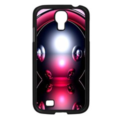 Red 3d  Computer Work Samsung Galaxy S4 I9500/ I9505 Case (black)