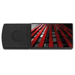 Red Building City Usb Flash Drive Rectangular (4 Gb)