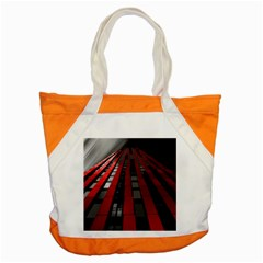 Red Building City Accent Tote Bag