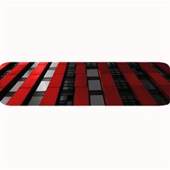 Red Building City Large Bar Mats