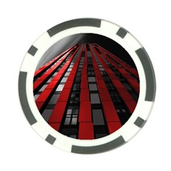 Red Building City Poker Chip Card Guard
