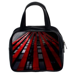 Red Building City Classic Handbags (2 Sides)