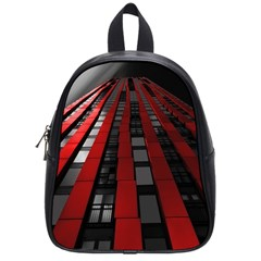 Red Building City School Bags (small)