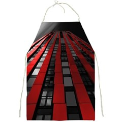 Red Building City Full Print Aprons