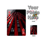 Red Building City Playing Cards 54 (Mini)  Front - HeartK