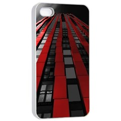 Red Building City Apple Iphone 4/4s Seamless Case (white)