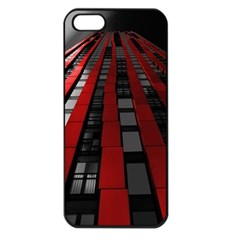 Red Building City Apple Iphone 5 Seamless Case (black)