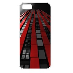 Red Building City Apple Iphone 5 Seamless Case (white)