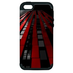 Red Building City Apple Iphone 5 Hardshell Case (pc+silicone)