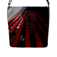 Red Building City Flap Messenger Bag (l)