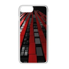 Red Building City Apple Iphone 7 Plus White Seamless Case
