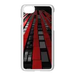 Red Building City Apple Iphone 7 Seamless Case (white)
