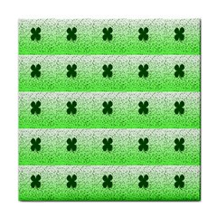Shamrock Pattern Background Tile Coasters
