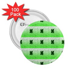 Shamrock Pattern Background 2 25  Buttons (100 Pack)