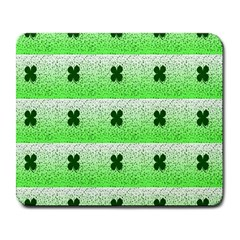 Shamrock Pattern Background Large Mousepads