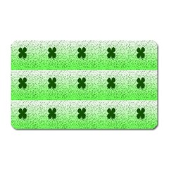Shamrock Pattern Background Magnet (rectangular)