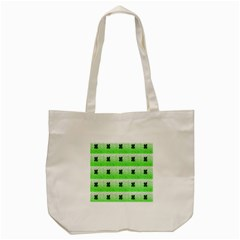 Shamrock Pattern Background Tote Bag (cream)