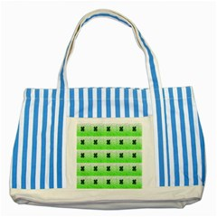 Shamrock Pattern Background Striped Blue Tote Bag
