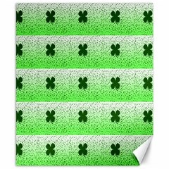 Shamrock Pattern Background Canvas 8  X 10