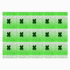 Shamrock Pattern Background Large Glasses Cloth (2 Side)