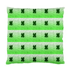 Shamrock Pattern Background Standard Cushion Case (one Side)