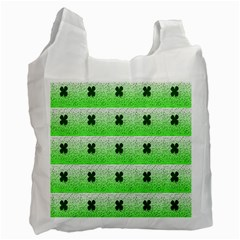 Shamrock Pattern Background Recycle Bag (two Side)
