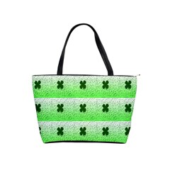 Shamrock Pattern Background Shoulder Handbags